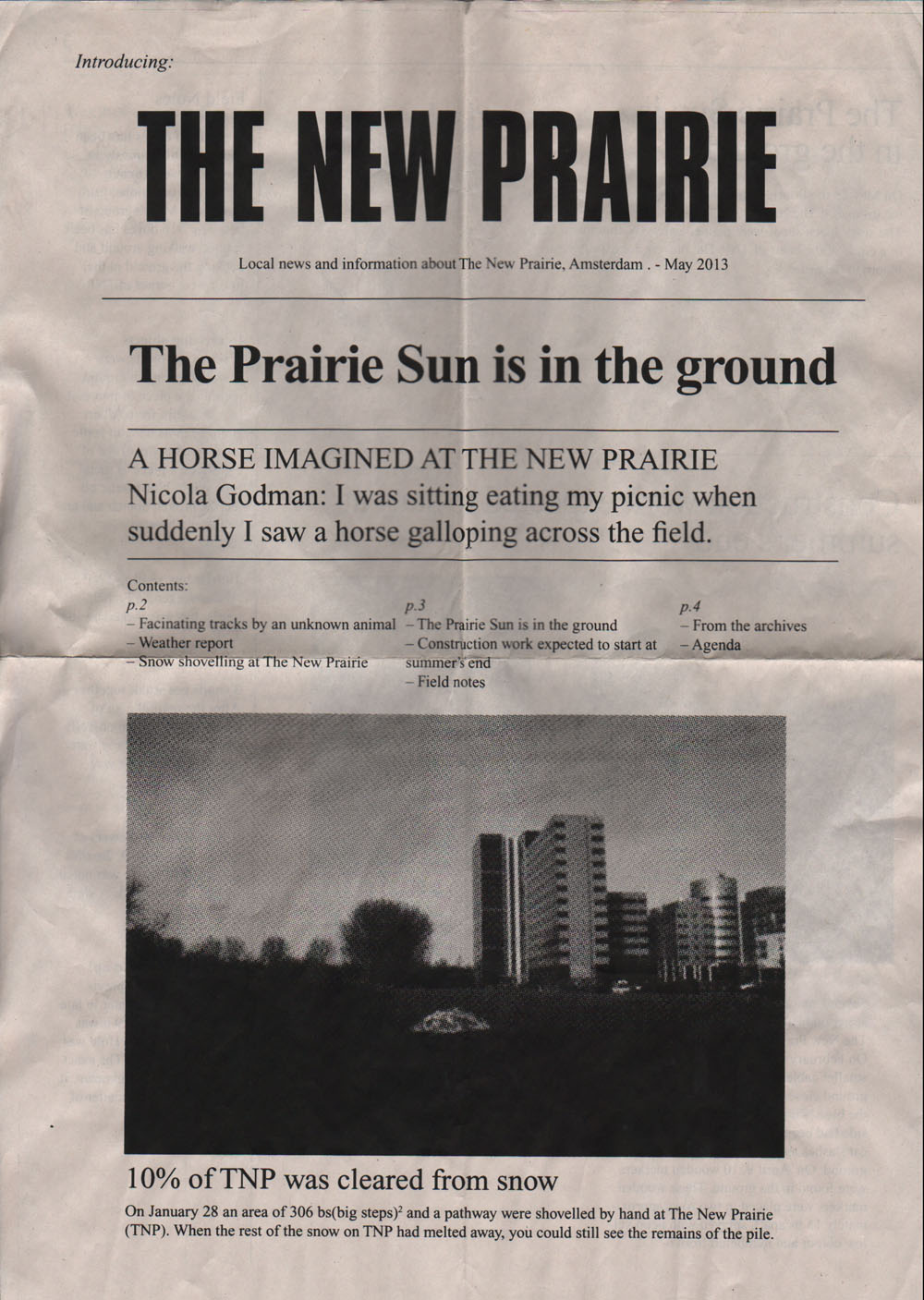 Front page of The New Prairie