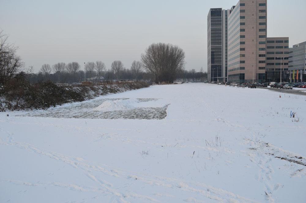 Snow shoveling of a rectangular area